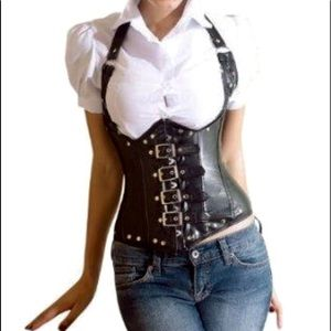 Leather Corset Allure Sexy Lace up Lingerie
